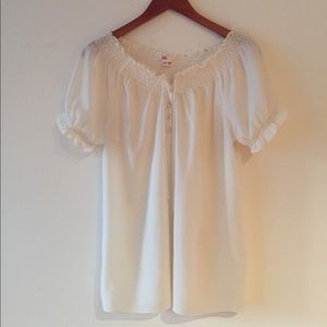 Joie off white ruffle blouse